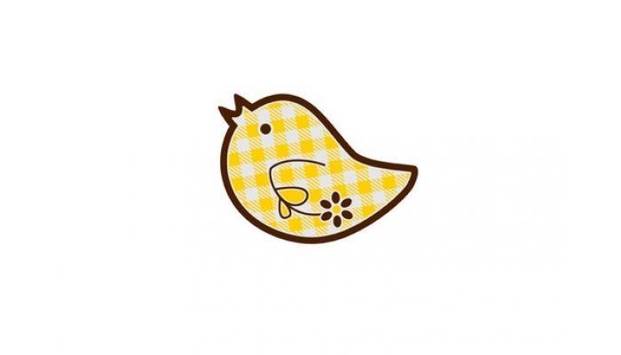 Žltý vtáčik 196ks